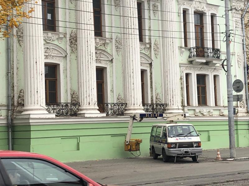 После публикации «Блокнот Таганрог», Дворцом Алфераки занялась клининговая служба