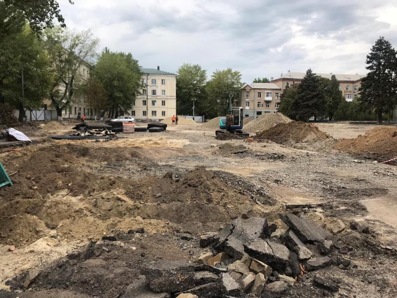 «Блокнот Таганрог» увидел, как продвигается стройка на Октябрьской площади