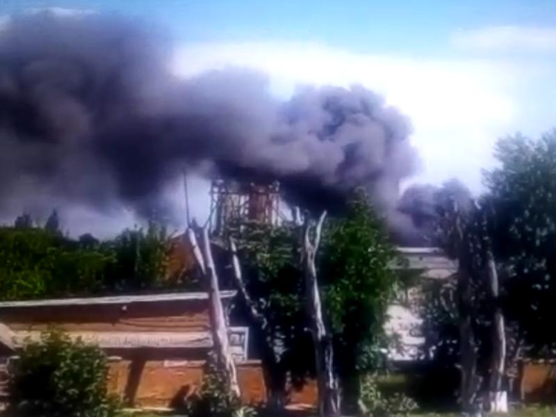 В Таганроге произошел пожар в районе элеватора