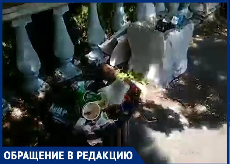 «Прекрасный» вид на мусорные залежи открывается на Смотровой площадке Таганрога