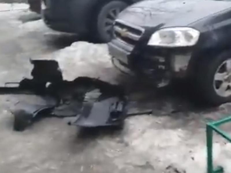 Бродячие собаки выгрызли бампер с автомобиля таганрожца