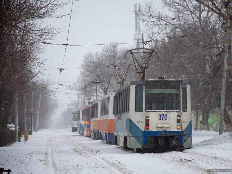 В снежную пургу Таганрог охватила и трамвайная эпопея