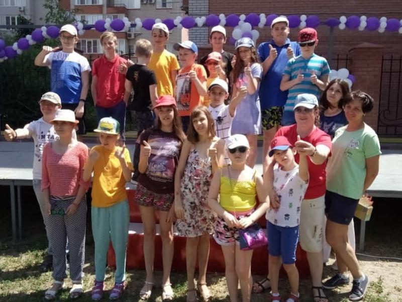 Летний лагерь принял на отдых особенных детей в Таганроге