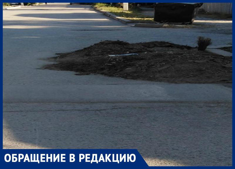 Рьяно взялись, запал прошел - бросили и забыли дочистить грязь на 12-м  Новом в Таганроге