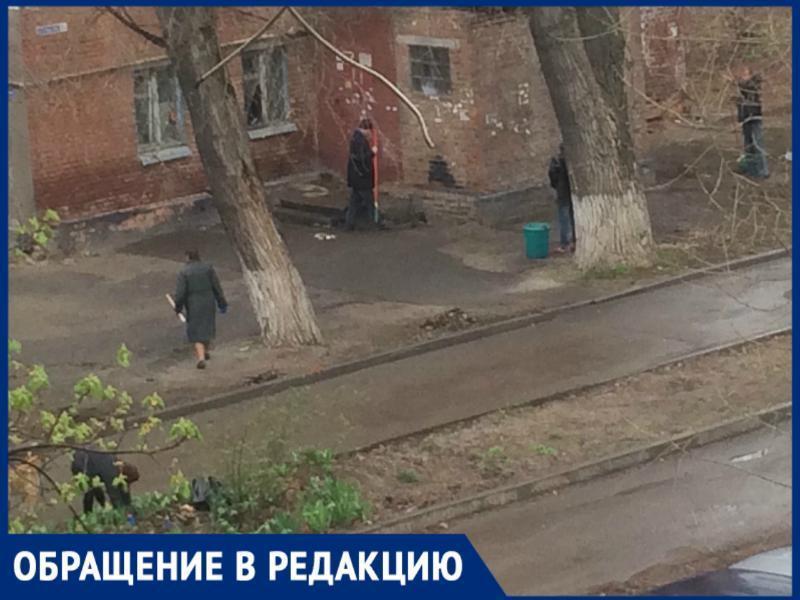 Бездомные люди устроили субботник в Таганроге