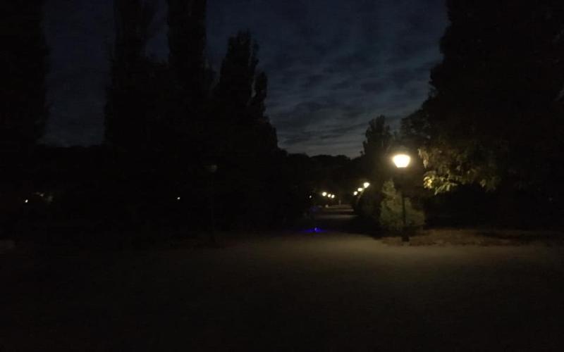 Таганрог в темноте отметил день рождения