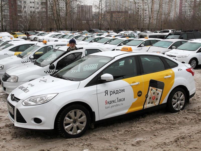 Таганрогские таксисты «Яндекса» провели акцию протеста