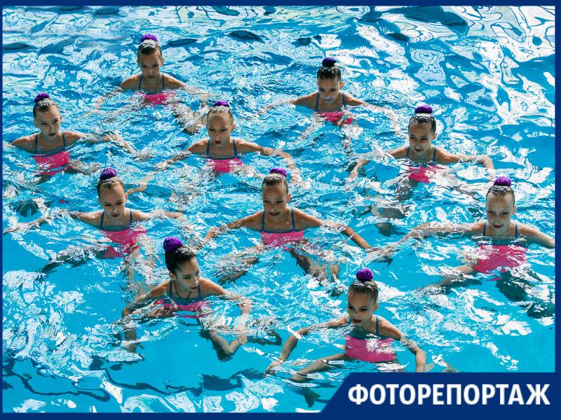 В Таганроге прошло первенство по синхронному плаванию