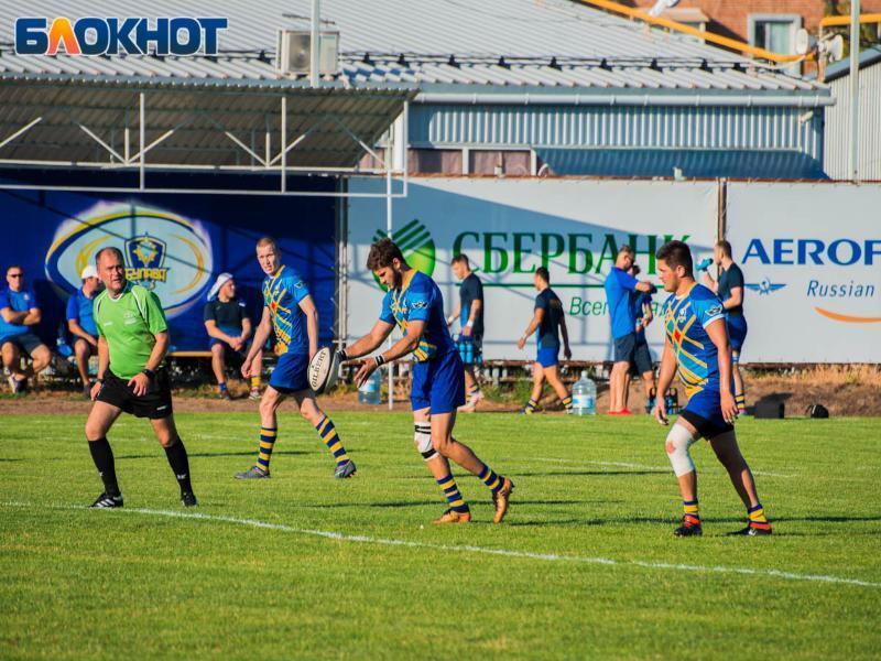 В Таганроге прошёл матч Премьер-лиги России по регби