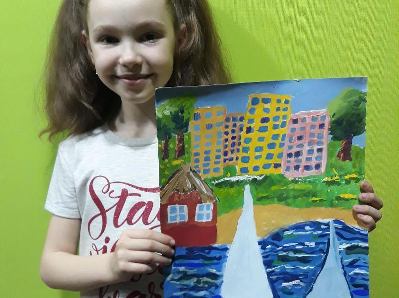 Первая участница конкурса Маша Грошева посвятила рисунок родному городу