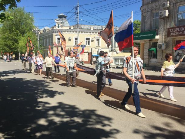Под громкий крик из мегафона нодовцы прошли по центральной улице Таганрога