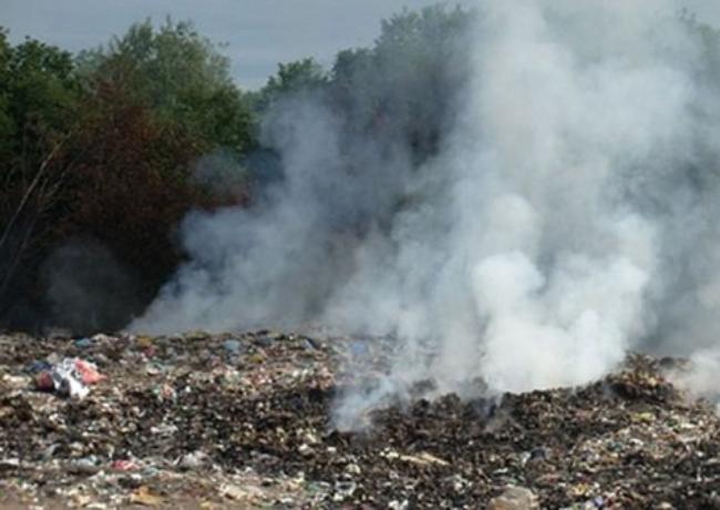В Таганроге нашли место горящему мусору со свалки на Николаевском шоссе