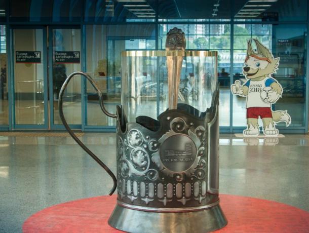 Арт-объект – символ российских железных дорог  воздвигли  на ж/д вокзале  в Ростове – на – Дону