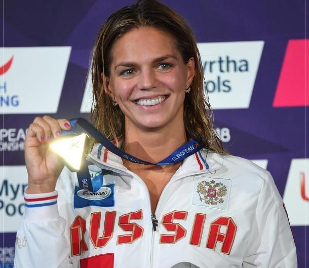 Юлия Ефимова завоевала золото Европы на стометровке брасом